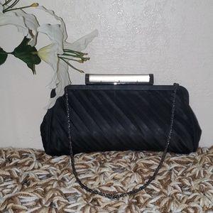 Vintage Kate Landry Black Evening Clutch Purse